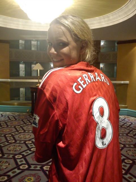 Caroline Wozniacki Liverpool Shirt
