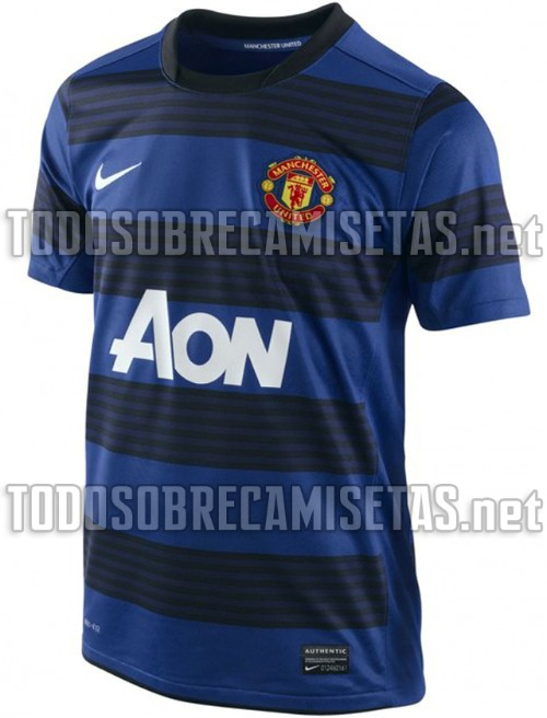 2e52cf4104a Man United New Away Kit 2011 12 Leaked  Blue and Black Stripped Shirt  Revealed