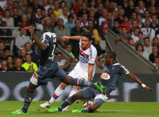 French First League soccer match, Olympique Lyonnais Vs Girondins de Bordeaux