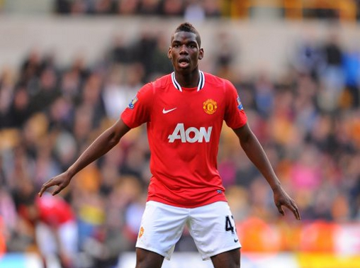 Paul Poga at Manchester United (courtesy of Caught Offside)