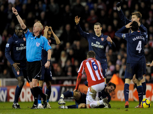Arsenal fans never forgave Ryan Shawcross for injuring Aaron Ramsey