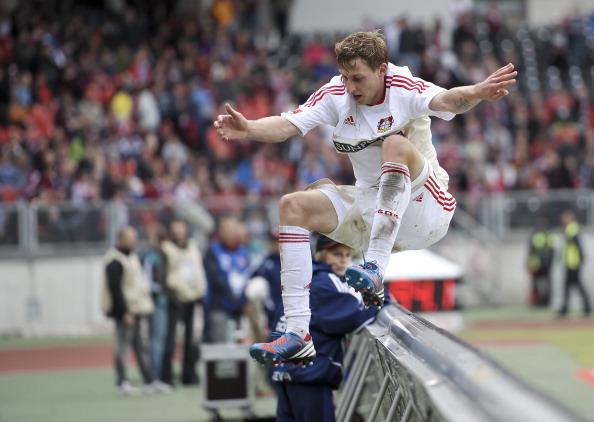 Leverkusen's German striker Stefan Kiess