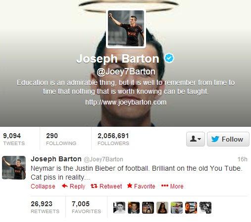 Barton Neymar Twitter