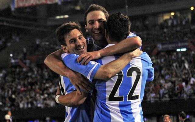 Higuain Messi Lavezzi