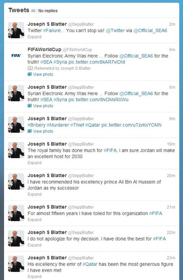 Blatter Hacked