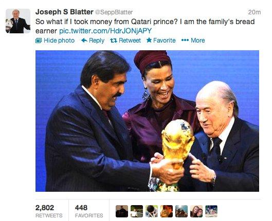 Blatter Twitter