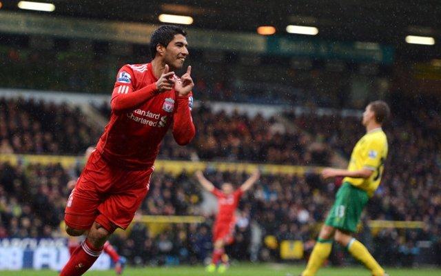 Luis Suarez Liverpool Norwich City