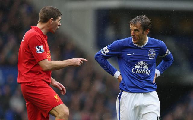 Steven Gerrard Liverpool Phil Neville Everton