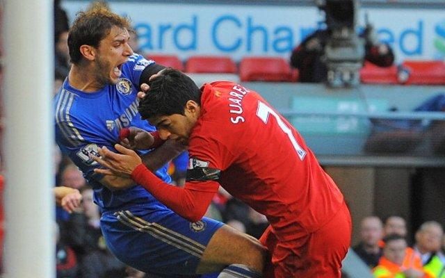 Liverpool Luis Suarez Bite Chelsea Branislav Ivanovic