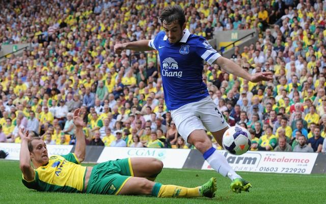Leighton Baines Everton Steven Whittaker Norwich City