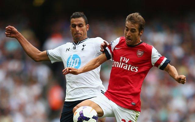 Tottenham Hotspur Nacer Chadli Mathieu Flamini Arsenal