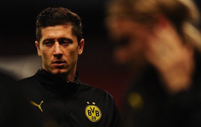 Robert Lewandowski Dortmund Barca