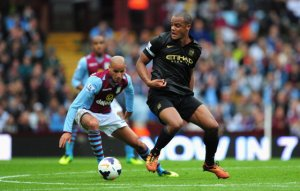 Vincent Kompany Man City Aston Villa