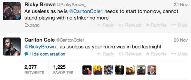 Carlton Cole Tweet