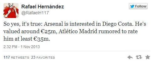 Hernandez Tweet