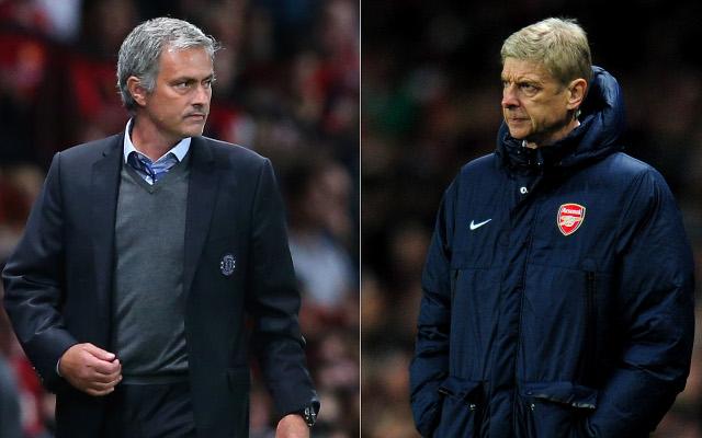 Jose Mourinho Arsene Wenger Arsenal Chelsea