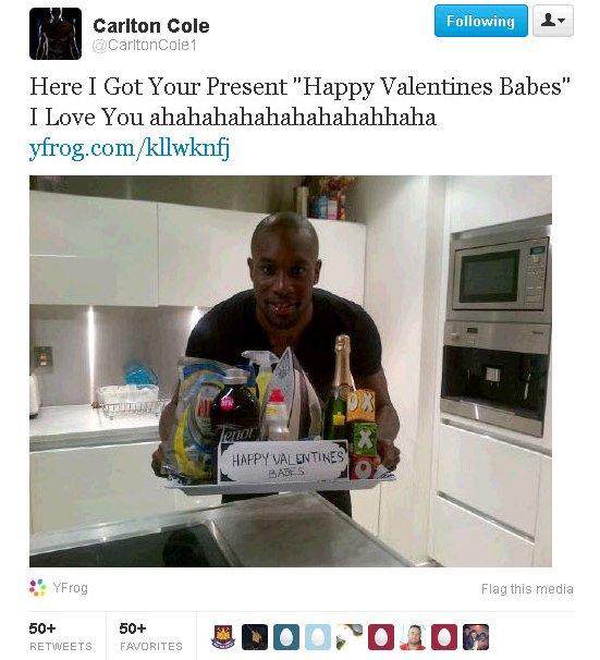 Carlton Cole Valentine's Day