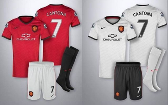 the latest 1621f c8ec2 Images) New Man United 2014/15 Chevrolet Sponsored Home ...