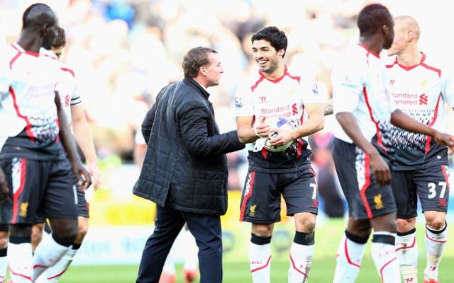Brendan Rodgers Luis Suarez Liverpool