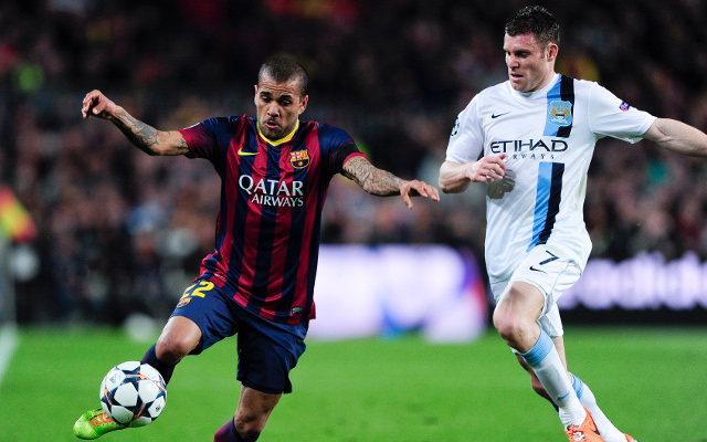 Dani Alves Barcelona James Milner Manchester City