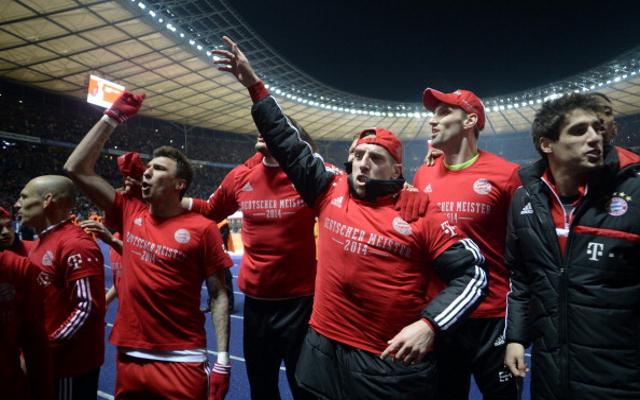 Franck Ribery Mario Mandzukic Bayern Munich