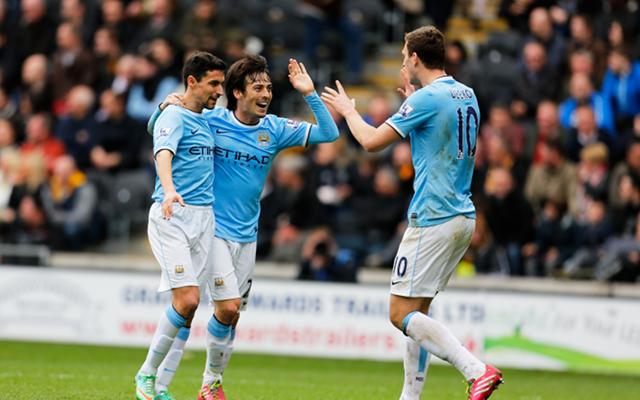 Manchester City Jesus Navas David Silva Edin Dzeko