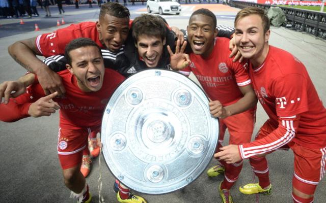 Mario Gotze David Alaba Jerome Boateng Bayern Munich
