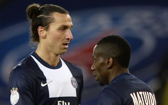 Zlatan Ibrahimovic Blaise Matuidi PSG