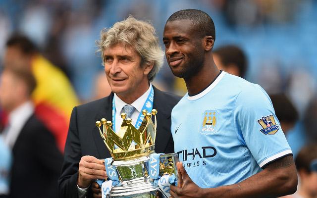 Manuel Pellegrini Yaya Toure Manchester City