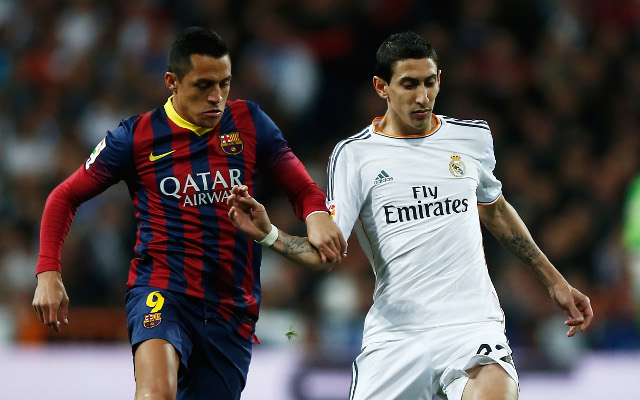 Alexis Sanchez Barcelona Angel Di Maria Real Madrid