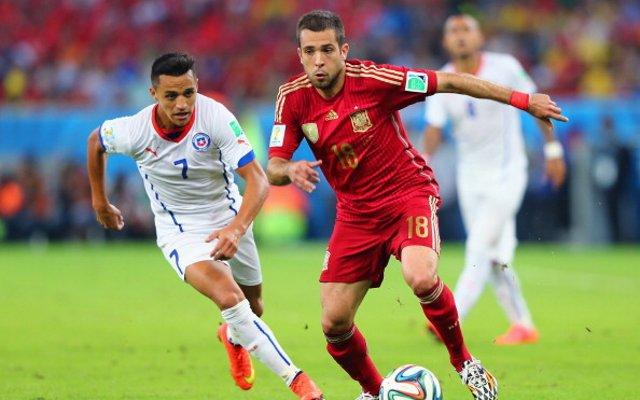Jordi Alba Spain Chile
