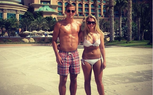 Harry Kane and girlfriend Kate Gooders