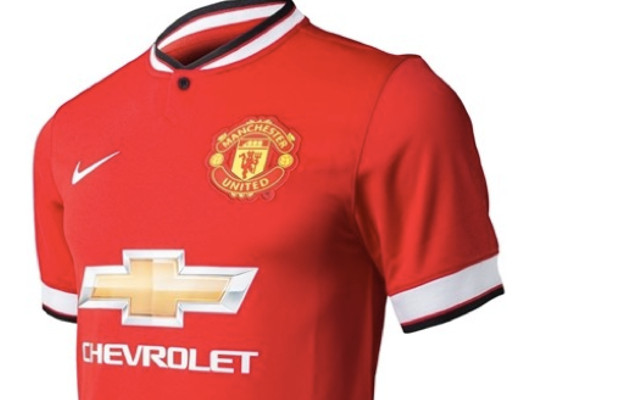 26fe239bc93 Images) Manchester United 2014-15 Home And Away Shirts