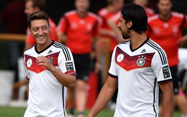 Mesut Ozil Sami Khedira Germany