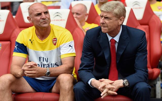 Arsene Wenger Steve Bould Arsenal