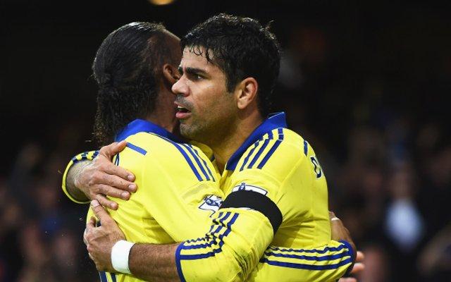 Diego Costa Didier Drogba Chelsea Everton