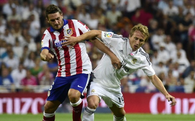 Koke Atletico Madrid Luka Modric Real Madrid