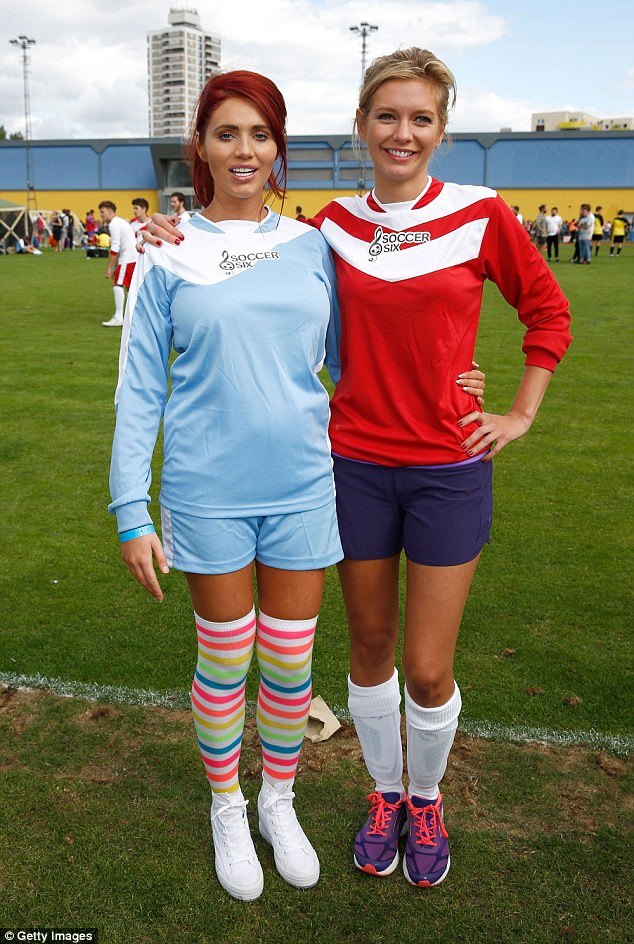 Rachel Riley with Amy Childs