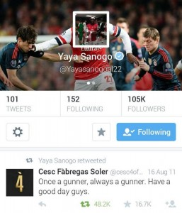 Sanogo Tweet