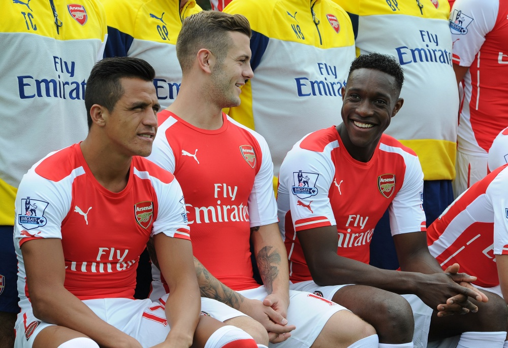 Alexis, Wilshere, Welbeck at Arsenal photocall