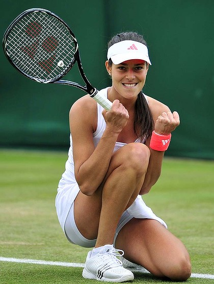 Ana Ivanovic happy at Wimbledon
