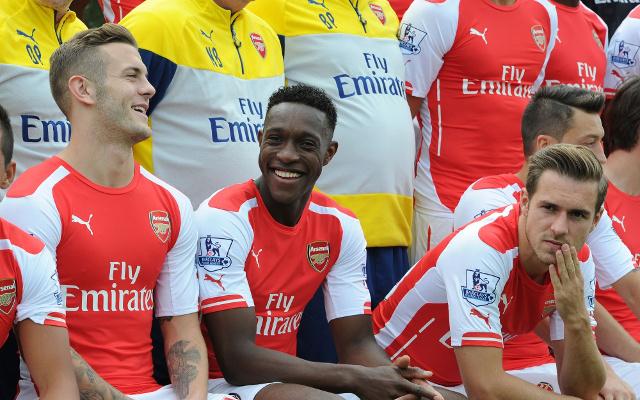 Jack Wilshere Danny Welbeck Aaron Ramsey Mesut Ozil Arsenal