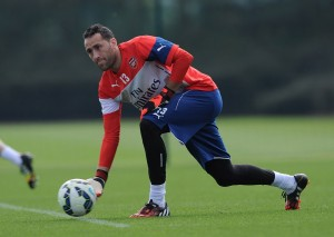 David Ospina, Arsenal training