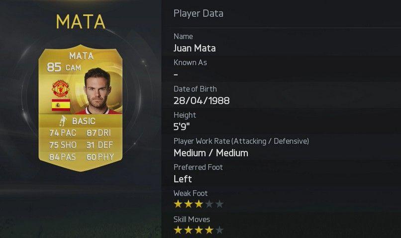 FIFA 15 - Mata