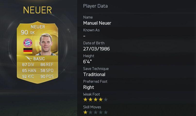 FIFA 15 - Neuer