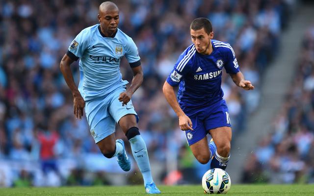 Fernandinho Manchester City Eden Hazard Chelsea