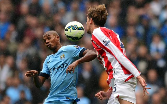 Fernandinho Manchester City Peter Crouch Stoke