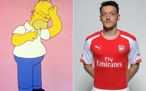 Homer Simpson Mesut Ozil Arsenal