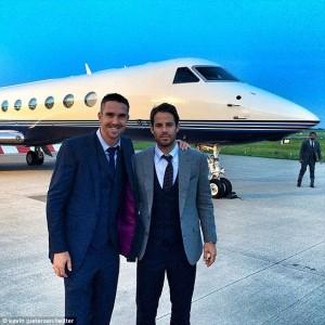 Kevin Pietersen Jamie Redknapp Plane 1