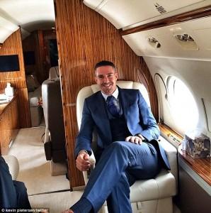 Kevin Pietersen Jamie Redknapp Plane 2